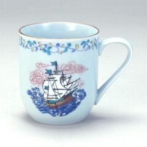 九谷焼 マグカップ 帆船|stylence