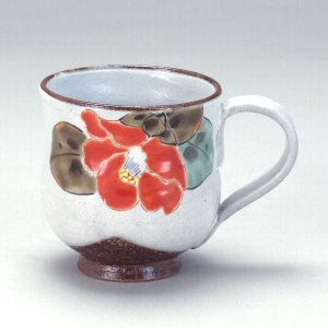 九谷焼 花暦マグカップ 椿(1月)|stylence