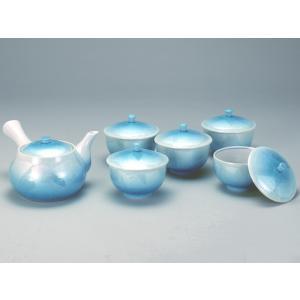 九谷焼 【送料無料】 蓋付茶器 二色釉銀彩 stylence