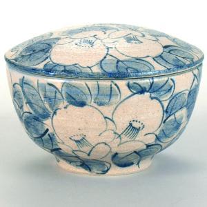 九谷焼 ご飯がくっつきにくい魔法のおひつ(蓋付レンジ鉢) 染付椿|stylence