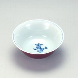 九谷焼 6号鉢 赤呉須寿字|stylence