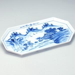 九谷焼 12号盛皿 染付山水|stylence