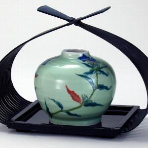 九谷焼 (花篭付き) 4号一輪生 りんどう|stylence