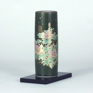 九谷焼 6号寸胴 オリベ芙蓉 (花台付)|stylence