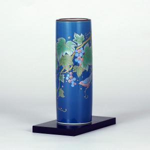 九谷焼 6号寸胴 トルコぶどう (花台付)|stylence