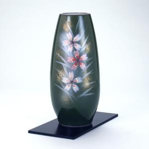 九谷焼 8号寸胴花瓶 なでしこ (花台付)|stylence