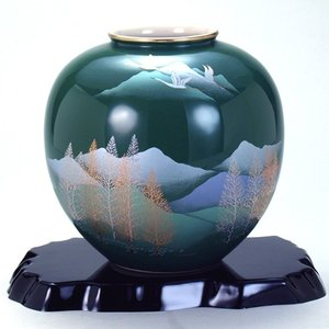 九谷焼 6号花瓶 木立連山|stylence