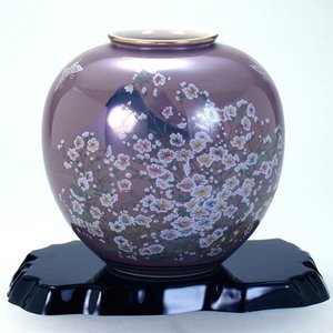 九谷焼 6号花瓶 かすみ草|stylence