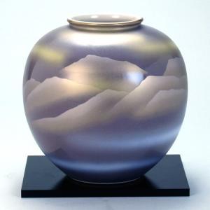 九谷焼 6号花瓶 紫金連山|stylence