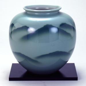 九谷焼 6号花瓶 青磁山|stylence