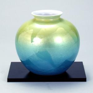 九谷焼 5号花瓶 二色銀彩 stylence