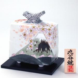 九谷焼 6号花瓶 春秋富士(リバーシブル)|stylence