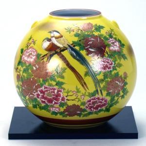 九谷焼 6号花瓶 三光鳥|stylence