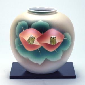 九谷焼 6号花瓶 紅椿|stylence