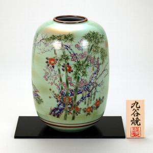 九谷焼 8号ナツメ花瓶 竹雉|stylence