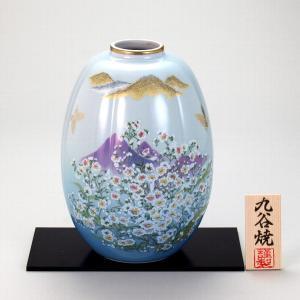 九谷焼 8号ナツメ花瓶 かすみ草|stylence