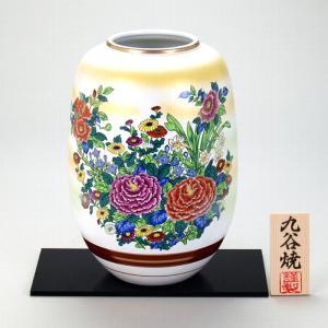 九谷焼 8号ナツメ花瓶 錦絵|stylence