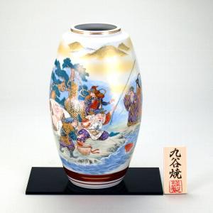 九谷焼 9号ナツメ花瓶 七福神|stylence
