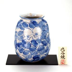 九谷焼 7号ナツメ花瓶 染付椿|stylence