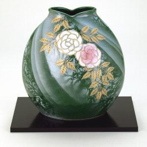 九谷焼 7号花瓶 野薔薇|stylence