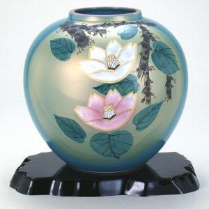 九谷焼 7号花瓶 紅白山茶花|stylence