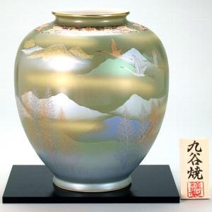 九谷焼 8号花瓶 鶴木立連山|stylence