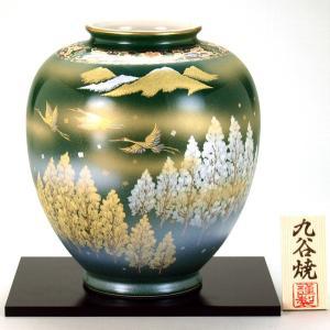 九谷焼 8号花瓶 金銀鶴木立連山|stylence