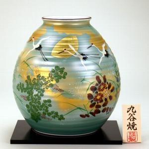 九谷焼 【送料無料】  8号花瓶 秋月文|stylence