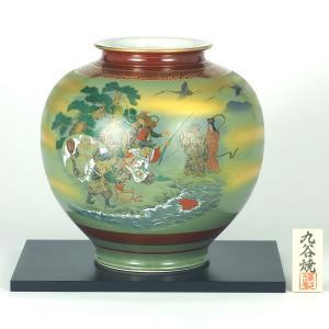 九谷焼 10号花瓶 七福神 (花台付)|stylence