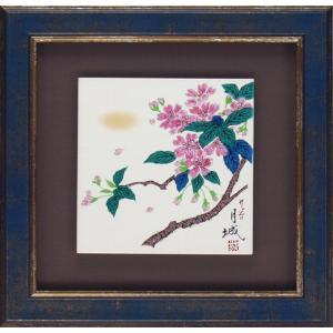九谷焼 陶額 桜 (ガラス無し)|stylence