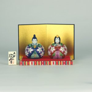 3号玉雛人形 紺赤桜紋|stylence