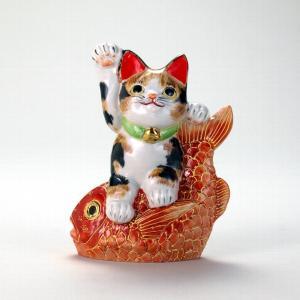 5号鯛乗り招猫 毛長三毛|stylence