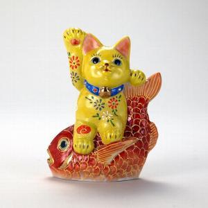 5号鯛乗り招猫 黄盛|stylence