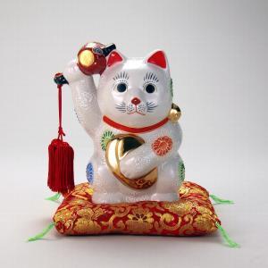6号小判小槌持招猫(布団付) 白盛|stylence