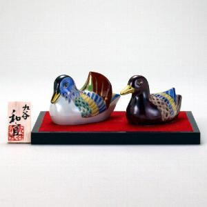4号おし鳥(台・木札付) 青九谷|stylence