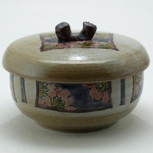 九谷焼 ご飯がくっつきにくい魔法のおひつ(蓋付レンジ鉢) 夜桜文|stylence