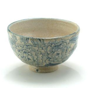 九谷焼 ご飯がくっつきにくい魔法の飯碗 手波丸型 染付牡丹|stylence