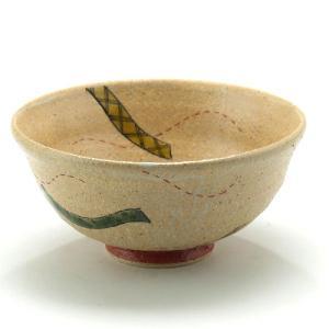 九谷焼 ご飯がくっつきにくい魔法の飯碗 手波反型 色絵帯文|stylence