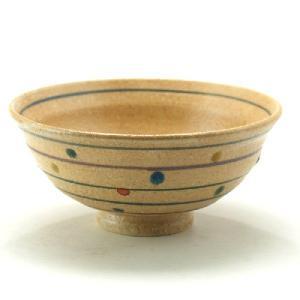九谷焼 ご飯がくっつきにくい魔法の飯碗 手波反型 色水玉|stylence