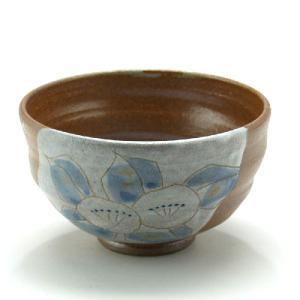 九谷焼 ご飯がくっつきにくい魔法の飯碗 手波丸型 彫刻入椿文|stylence