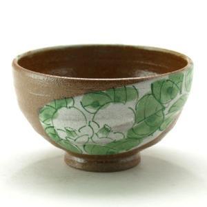 九谷焼 ご飯がくっつきにくい魔法の飯碗 手波丸型 緑染付椿|stylence
