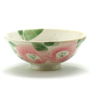 九谷焼 ご飯がくっつきにくい極小飯碗 反型 ピンク椿|stylence