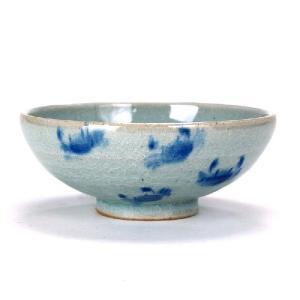 九谷焼 極小飯碗 丸型 染付かに小紋|stylence