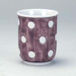1ヶ湯呑 紫地水玉|stylence