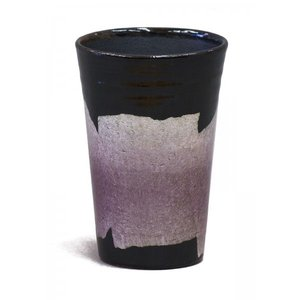 九谷焼 タンブラー 銀彩京紫色 stylence