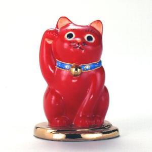 3号小判乗り招猫 赤ぬり|stylence