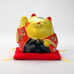 4号だるま招猫(布団付) 黄盛|stylence