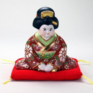 6号お辞儀お福(布団付) 赤盛|stylence