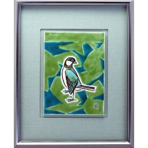 九谷焼 陶額 鳥の図 stylence