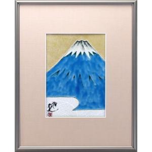 九谷焼 谷敷正人作 陶額 富士山|stylence